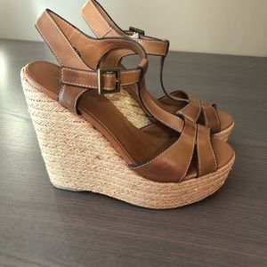 Aldo Brown Wedge Sandal